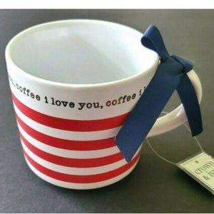 Crown & Ivy Coffee Cup NWT Mug Gift Coffee I Love